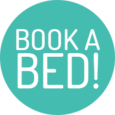 Book a bed button