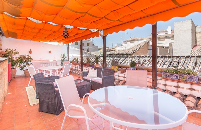El Granado rooftop areas orange terrace